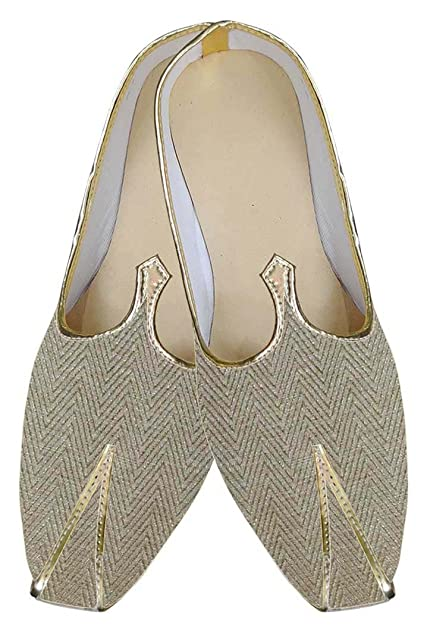 Mens Golden Wedding Shoes Wave Wales MJ0042