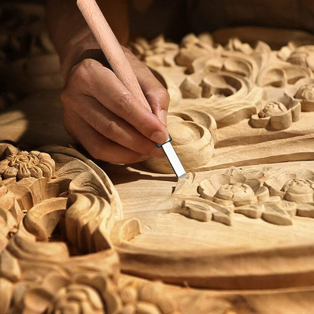 Jab/ón Cuchillo de Talla,YLX Conjunto de Herramientas de Talla Vegetales /Kit Profesional de Tallado en Madera para Principiantes de Bricolaje con Caja y Piedras de Afilar Ideal Para Tallar Madera