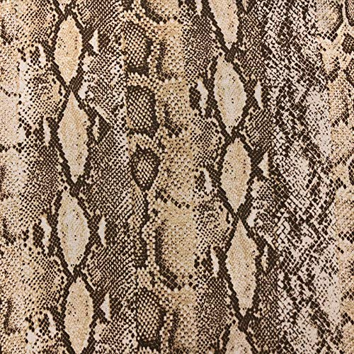 Off White Camel Snake Skin Print Poly Spandex Power Mesh Fabric