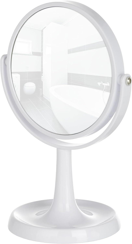 Standspiegel 19.5 x 28 x 14 cm WENKO 3656521100 Kosmetikspiegel Rosolina Chrom Spiegelfl/äche /ø 15cm 500/% Vergr/ö/ßerung Chrom Kunststoff
