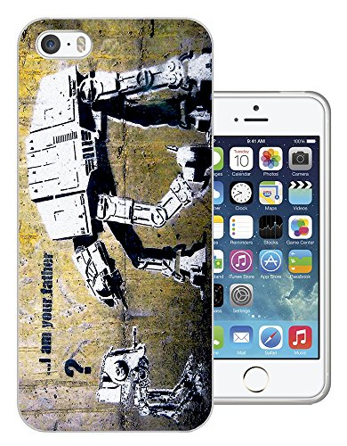 548 - Banksy Graffiti Art Robot Star Wars Design iphone 4 4S Fashion Trend Protecteur Coque Gel Rubber Silicone protection Case Coque