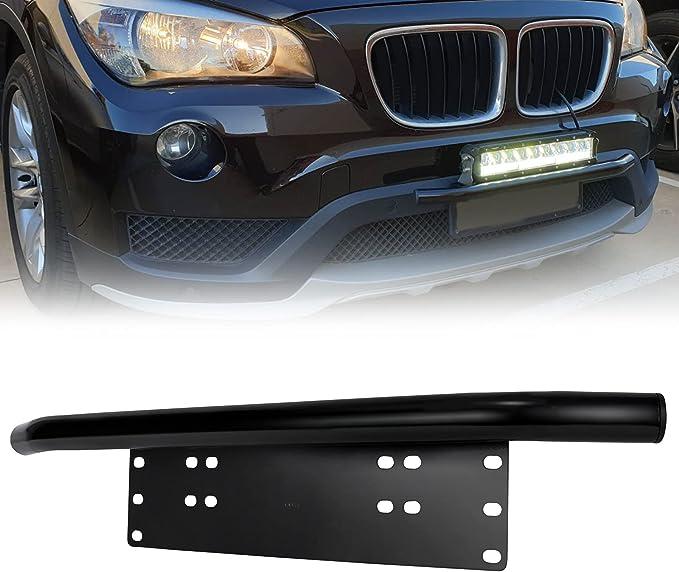 License Number Plate Frame Halter Light Bar Mount Frontsto/ßstange f/ür Offroad Lkw Fahrzeugplatte Halterung einfache Installation