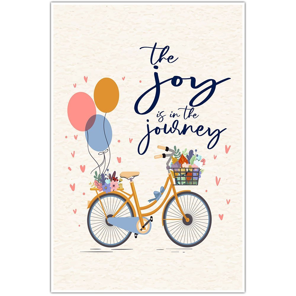 The Joy Is In The Journey Motivational Wall Art