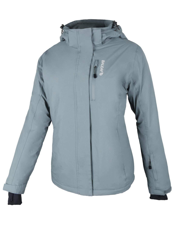 BALEAF Womens Ski Jackets Waterproof Insulated Winter Windbreaker Snow Coat Grey Size 2XL by BALEAF