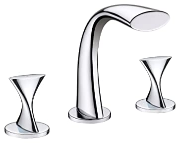 Ultra Faucets UF55510 Twist Collection Two Handle Widespread