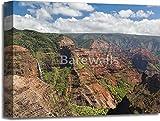 Waimea Canyon Kauai Island Hawaii Paper Print Wall Art Gallery Wrapped Canvas Art (16in. x 20in.)