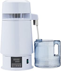 YUEWO New 750W Electrical 4 Liter/1 Gallon Home Wine Distiller Moonshine Still Alcohol Distillation Brewing Kit Water Purification w/Liquid Crystal Screen (US Plug(110V-120V))