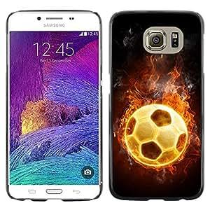 Paccase / Dura PC Caso Funda Carcasa de Protección para - Football Fire Hot Game Universe Flames - Samsung Galaxy S6 SM-G920