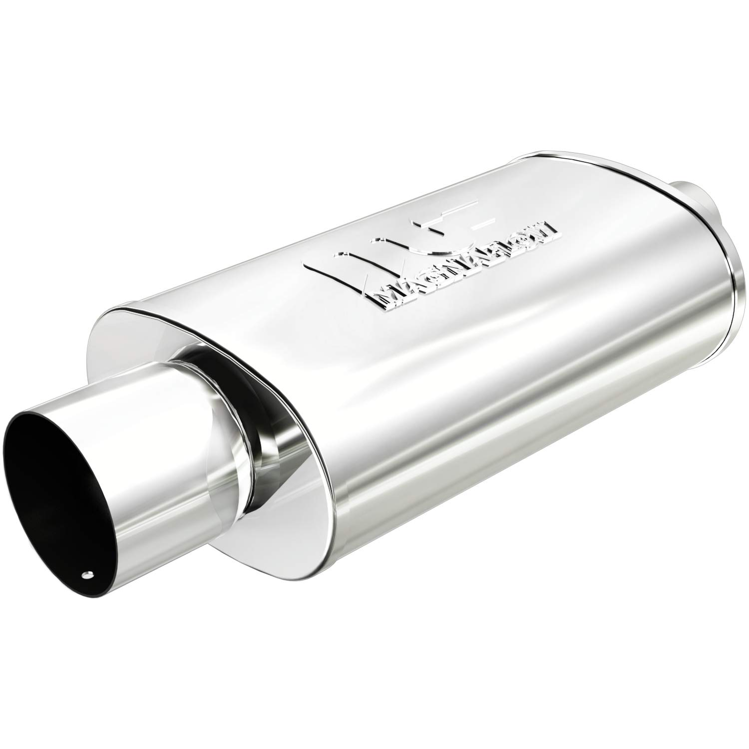 Magnaflow 14818 Street Series Polished Stainless Steel Oval Muffler with Tip