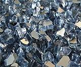 Fire Pit Glass Fireglass Fireplace Glass, ~1/4″ Blue Reflective, 10 LBS For Sale