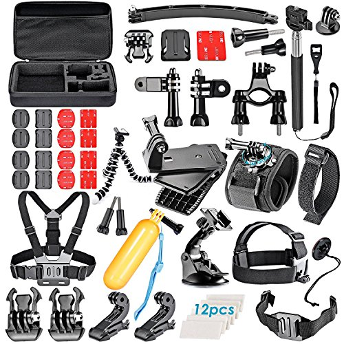VanteexPro 60-in-1 Accessories Bundle Kit for Gopro Hero 7 6 5 4 3+ 3 2 1 Camera Accessories Combo Kit