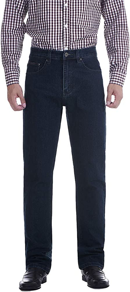 Casual Classic 5-Pocket Regular Fit Flex,Straight Leg Carpenter Jeans for Men 35-40
