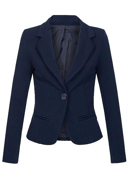 violet Fashion - Chaqueta de Traje - para Mujer Azul Marino S: Amazon.es: Ropa y accesorios