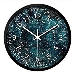 Imoerjia Winter Snow Floating in Dance Pattern Wall Clock Home Decor Bedroom Living Room Wall Wall Clock Mute E-Quartz-Table, 14 Inch, White-Black Box