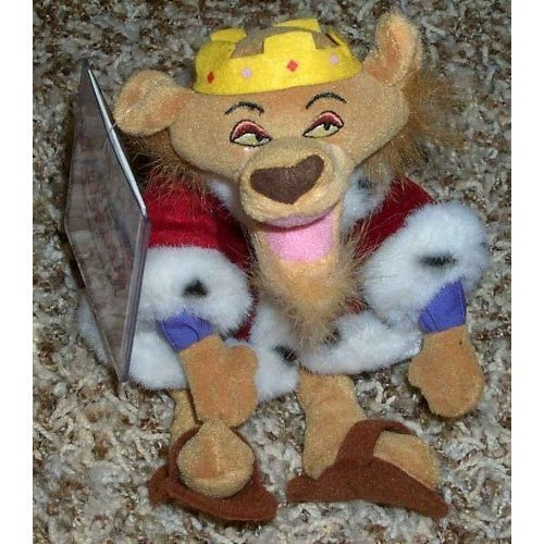 (Out of Production Disney Robin Hood Prince John Lion Doll MINT with Tag)