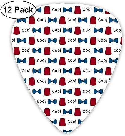 Stuff That S Cool Tie 12 Pack Púas de guitarra, guitarras eléctricas y acústicas: Amazon.es: Instrumentos musicales