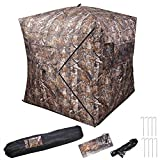Beth Home Portable Ground Hunting Blind Deer Hunting Camouflage Archery Hunter Pop Up Tent