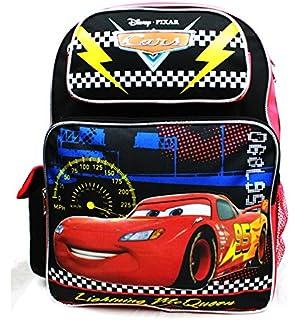 Disney Backpack Cars - Lightning McQueen Black New A08495
