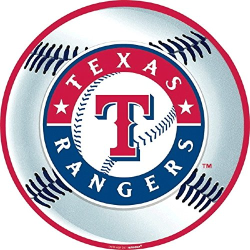 Sports and Tailgating MLB Party Texas Rangers Cutout Decoration, Laminated Cardstock, 12