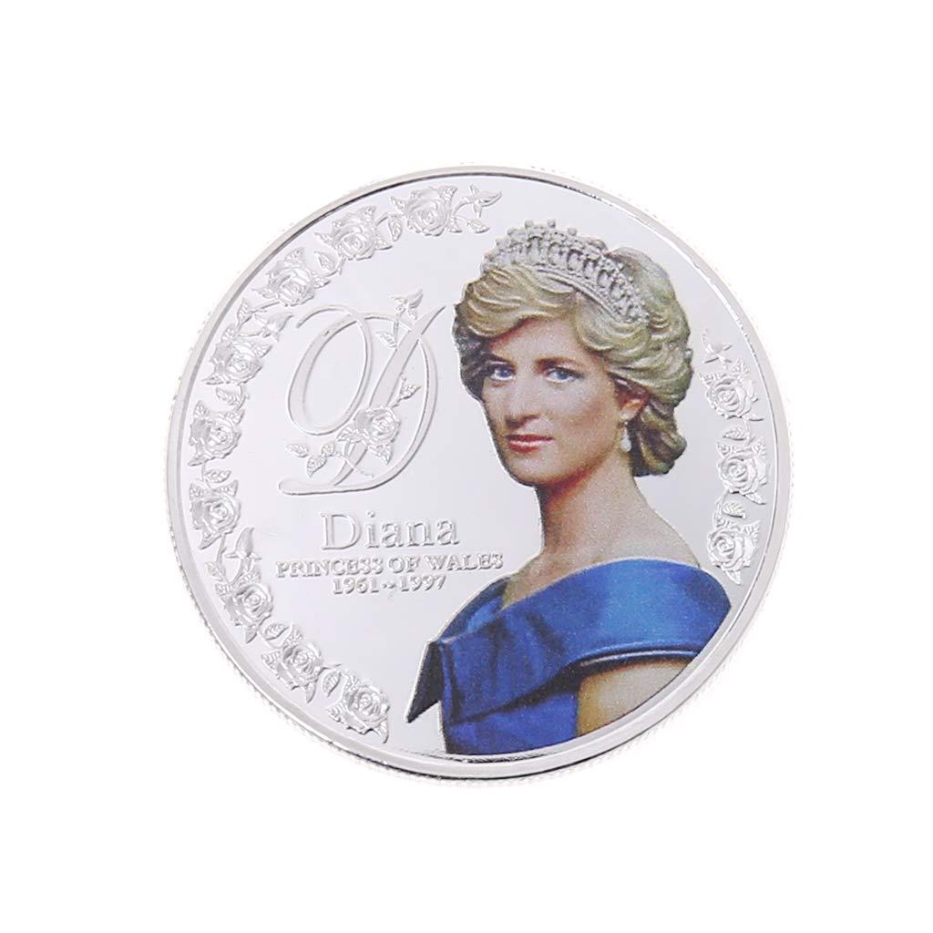 Great Princess Diana Vintage Coin Balain Commemorative Coin Silver