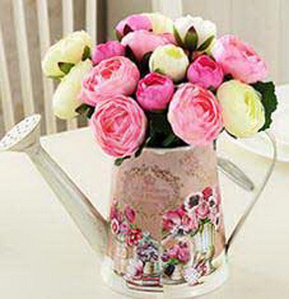 Koala Superstore Larrosoir de Style Pastoral am/éricain a form/é Le Baril de Fleur s/éch/ée d/écorative Rose