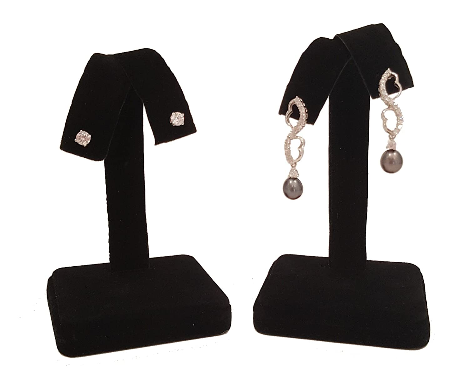 White Faux Leather Earring Tree Display 4.25H Fan-Out Jewelry Holder Stand N/'ice Packaging Nice Packaging 6 Pieces