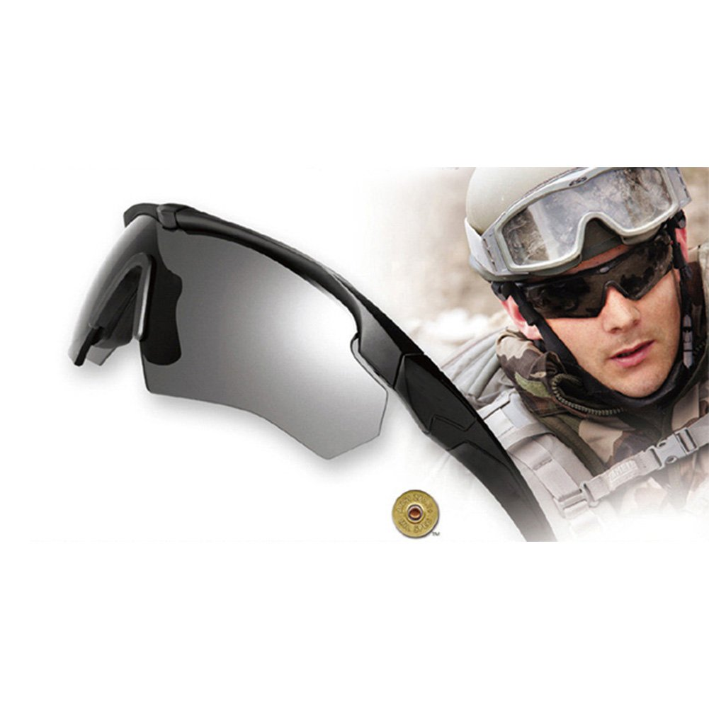 91284596fe7 SimingD Outdoor Sport Polarized Sunglasses Crossbow Military Tactical  Ballistic Goggles Kit (Yellow )