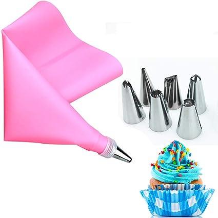 Beccucci Pasticceria,OSUTER 67PCS Kit Pasticceria Torte Riutilizzabile Tasca da Pasticceria Professionali per Cupcake Dolci Torta Decorazione