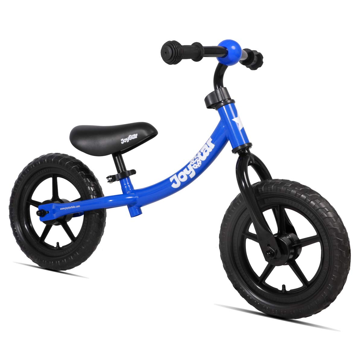 JOYSTAR Balance Bike for 1.5-5 Years Boys, Toddler Push Bike with EVA Polymer Foam Tire for Child, 12 inch Kids Glider Bike, Children Slider Cycle, Kids Pedalless Bike, Blue