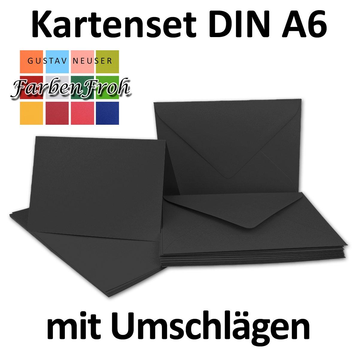Faltkarten Set mit Brief-Umschlägen DIN A6 A6 A6   C6 in Rosanrot   100 Sets   14,8 x 10,5 cm   Premium Qualität   Serie FarbenFroh® B079ZVDJF8 | Schnelle Lieferung  d7bd22