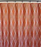 Pair of rod curtains 50'' wide panels burnt orange ivory robert allen diamond geometrical window treatment nursery cotton drapes 84 96 108