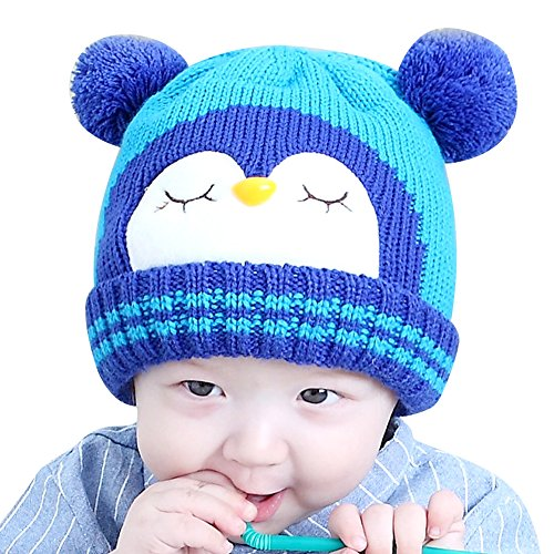 11c54689428 IMLECK Kids Cute Cartoon Owl Winter Hat Toddler Warm Beanie Hat - Fits 3  months old to 2 years old