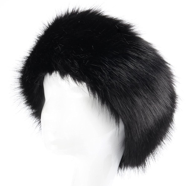 yanibest Damen-Stirnband aus Kunstpelz Winter Ohrenwärmer mit Weiche Ohrenschützer Ski Hat