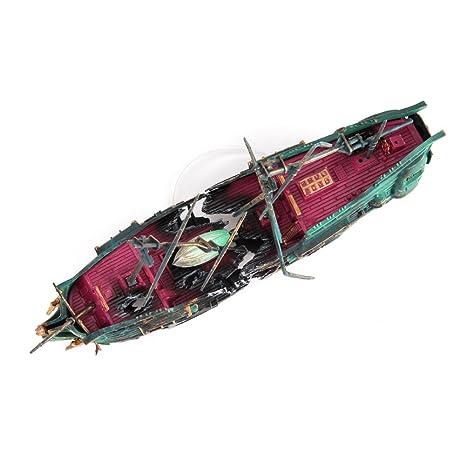 Amazon.com : WinnerEco Aquarium Ornament Ship Air Split Shipwreck Fish Tank Decor Sunk Wreck Boat : Pet Supplies