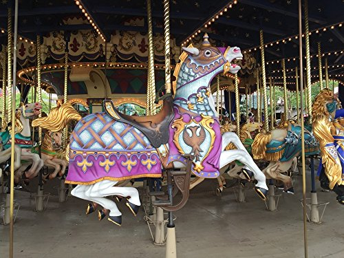 Home Comforts LAMINATED POSTER Horse Attraction Child Carousel Merry-go-round Poster