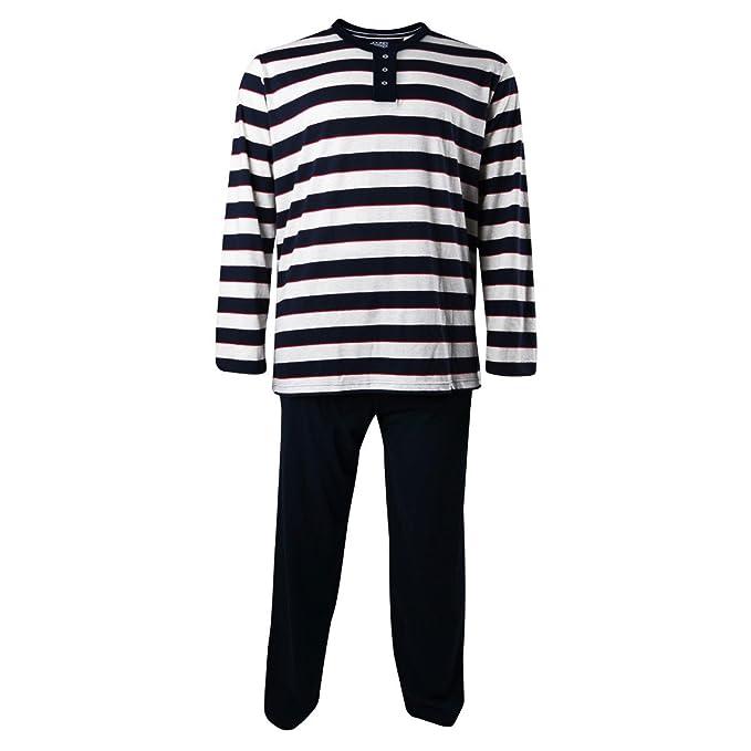 Jockey XXL Pijama a rayas azules oscuras , 2xl-8xl:3xl