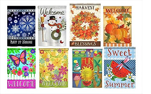 Pacific Flag Supply Seasonal Outdoor Garden Flags - Assorted