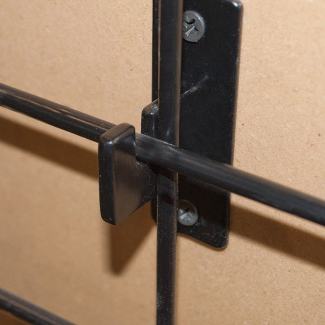 Grid Wall Hanger Bracket Wall Mount Store Display Fixture Black Lot of 48 NEW