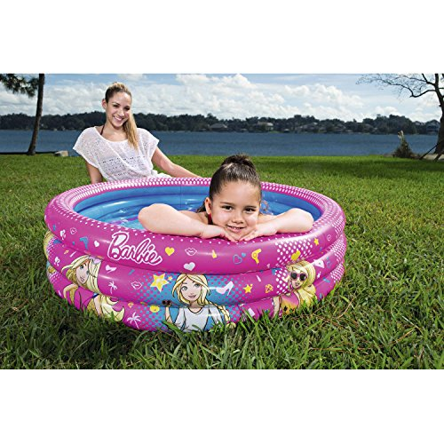 Barbie 3-Ring Inflatable Play Pool (Bike Buoy Mug)
