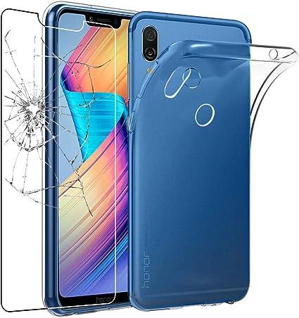 ebestStar - Funda Compatible con Huawei Honor Play Carcasa Silicona, Protección Claro Ultra Slim, Transparente + Cristal Templado [NB: Leer descripción] [Aparato: 157.9 x 74.3 x 7.5mm, 5.15]: Amazon.es: Electrónica