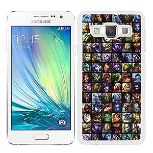 Funda carcasa para Samsung Galaxy A5 diseño estampado dibujos borde blanco