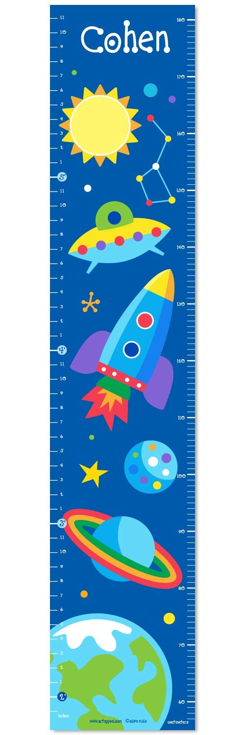 Out of This World Personalized Wall Decal Growth Chart By Olive Kids