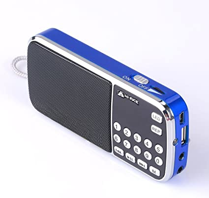 Hi-Rice SD-101 Portable LED Torch FM//AM Radio Digital Speakers USB TF MP3 Player