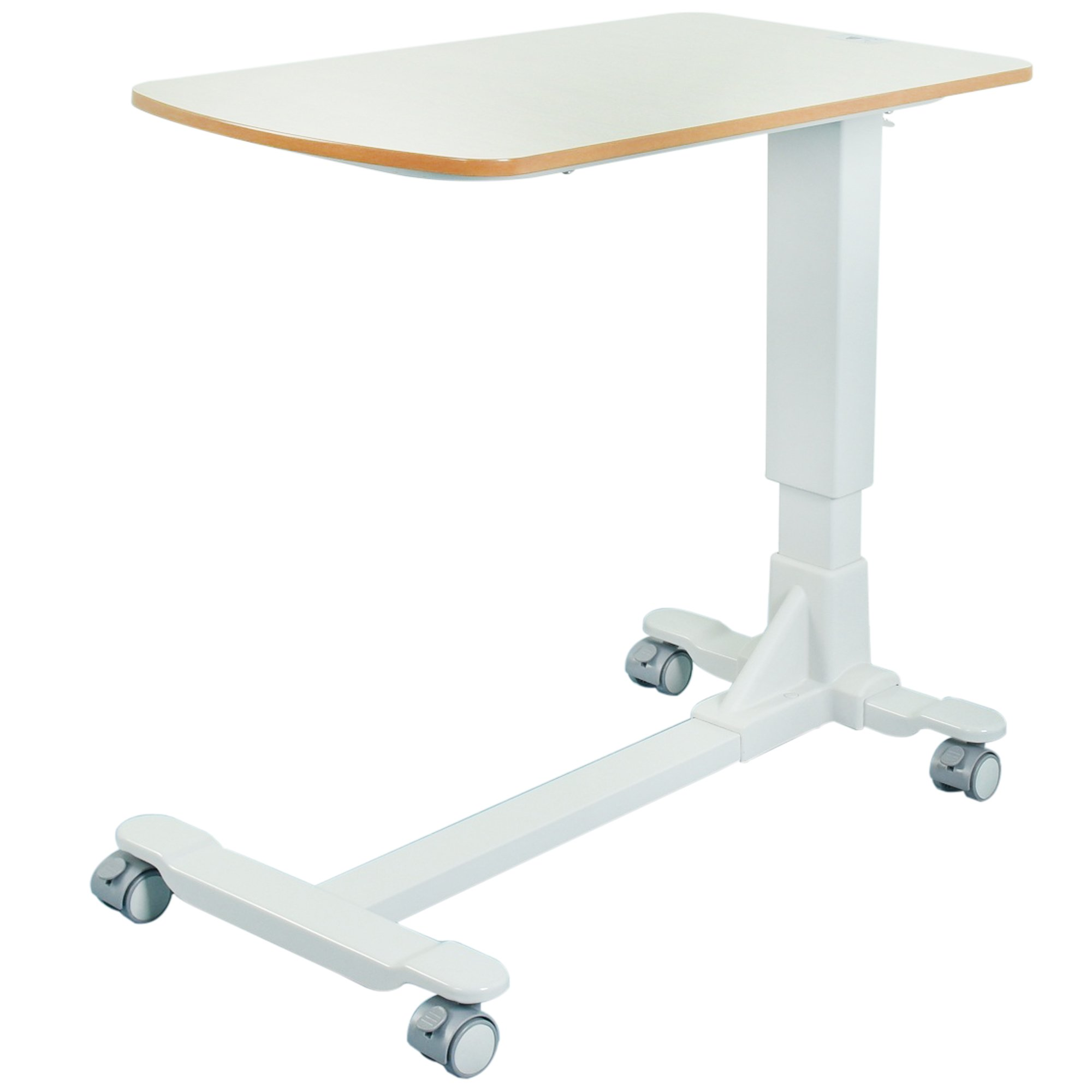 Medical Adjustable Bedside Table with Wheels