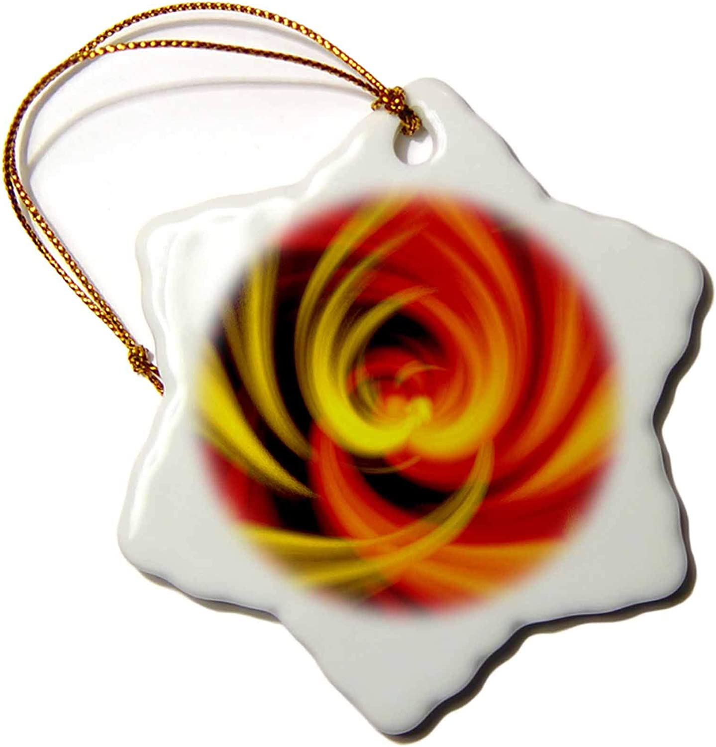 3dRose Abstract Design of Christmas Candle Flames morphing into a Love. - Ornaments (ORN_334013_1)