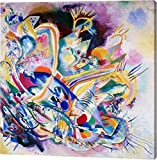 """This 14""""x14"""" premium giclee canvas art print of Improvisation Painting by Wassily Kandinsky is created on the finest quality artist-grade canvas, utilizing premier fade-resistant archival inks that ensure vibrant lasting colors for years to come. Eve..."""