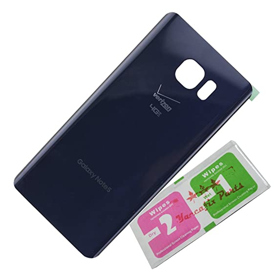 new style a5893 f576d Replacement Battery Door Back Cover Housing Case for Samsung Galaxy Note 5  Verizon N920v (blue)
