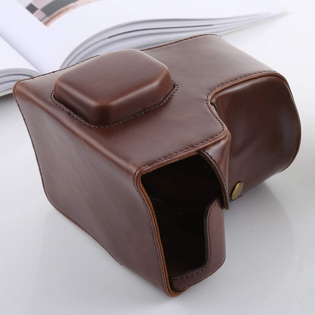 Full Body Camera PU Leather Case Bag with Strap for FUJIFILM X-T3 Durable Color : Coffee