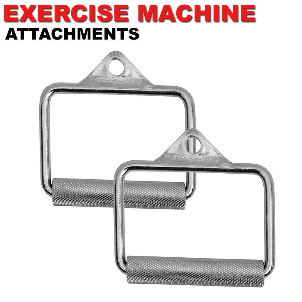 FITNESS MANIAC Home Gym Cable Attachment Handle Machine Exercise Chrome PressDown Strength Training Home Gym Attachments 30 inch Curl Bar Set (7 Pieces Set) by FITNESS MANIAC (Image #7)