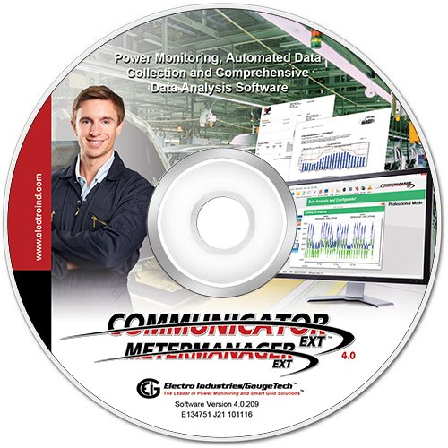 Communicator EXT Energy Management Software with MeterManager EXT Data Collection Software by Electro Industries/Gaugetech